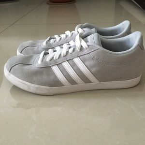 Adidas Gray Suede Sneakers 8.5